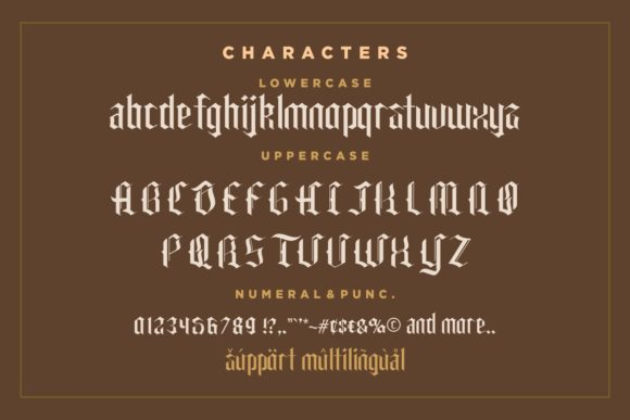 Print on Demand: Carglos Blackletter Font By HansCo - Image 6