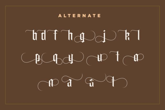 Print on Demand: Carglos Blackletter Font By HansCo - Image 7