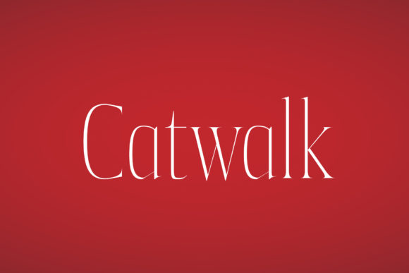 Print on Demand: Catwalk Display Font By Andreas Leonidou