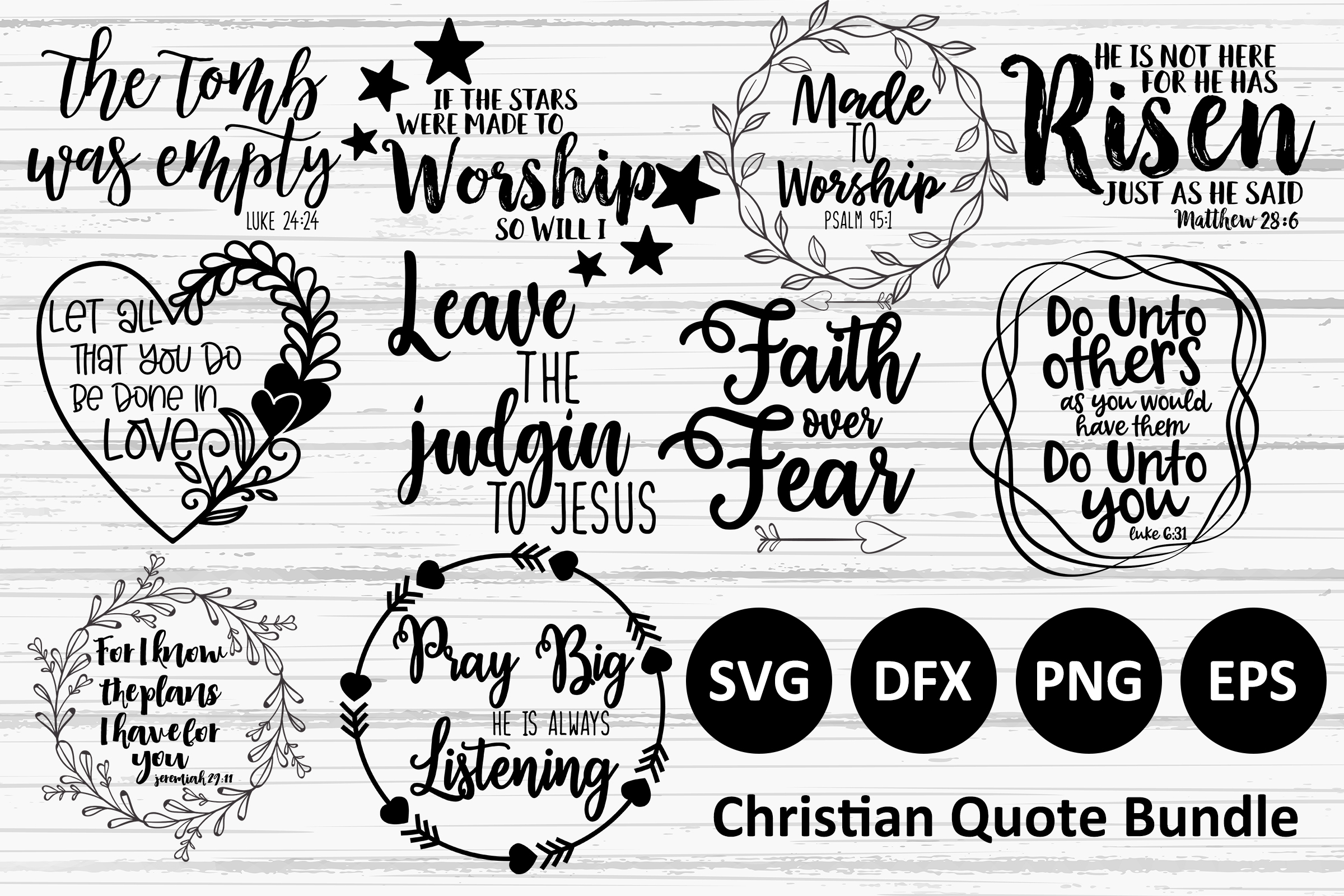 Download Free Christian Quote Bundle Graphic By Studio 17 Designs Creative for Cricut Explore, Silhouette and other cutting machines.