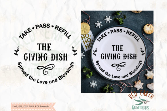 Christmas Giving Dish Sharing Plate Graphic Crafts By redearth and gumtrees