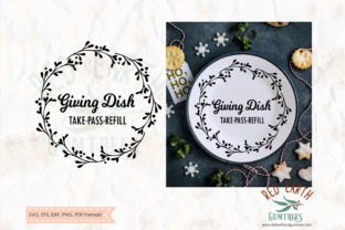Christmas Giving Plate, Sharing Plate Graphic Crafts By redearth and gumtrees