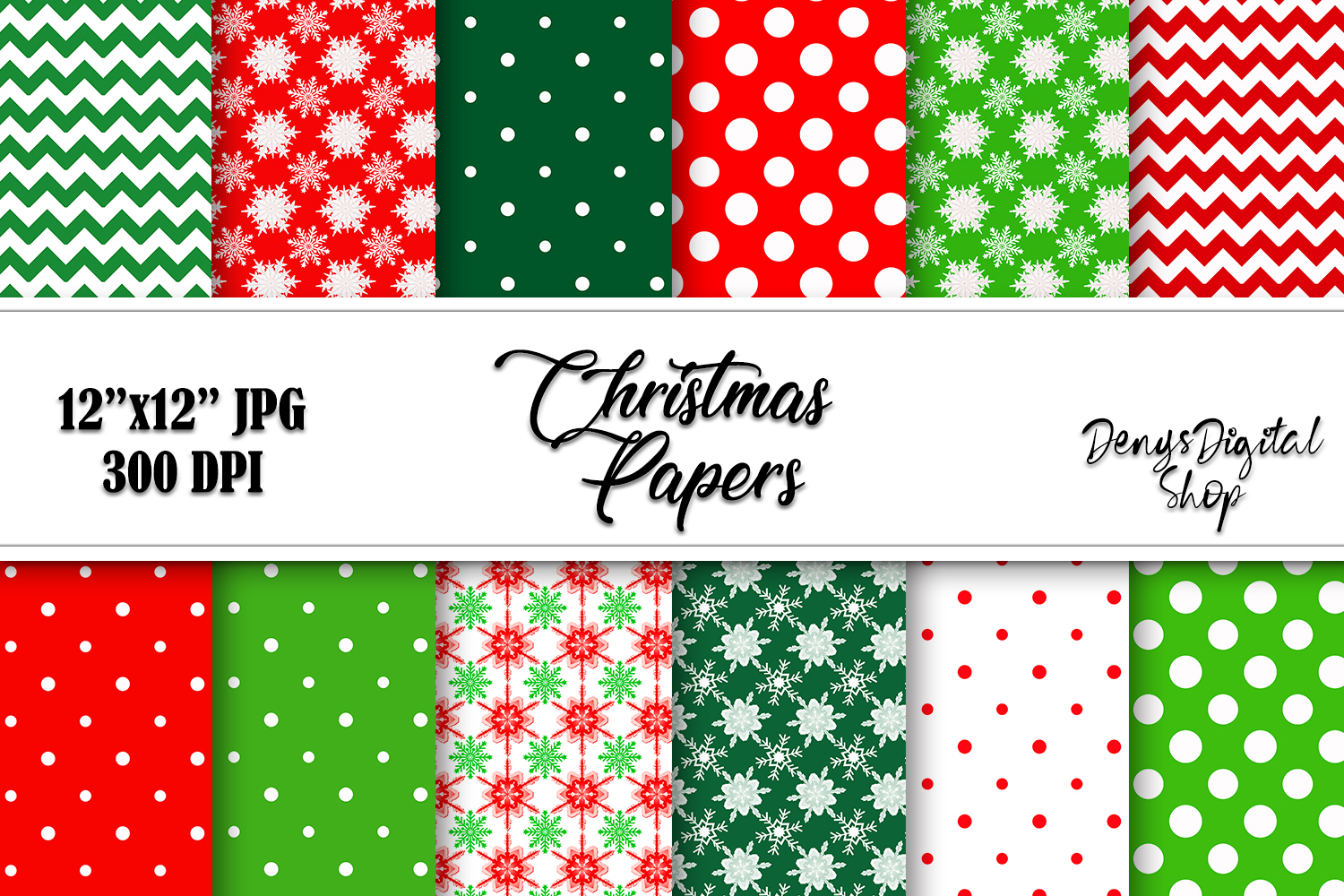 Download Free Christmas Papers Scrapbook Digital Graphic By Denysdigitalshop for Cricut Explore, Silhouette and other cutting machines.