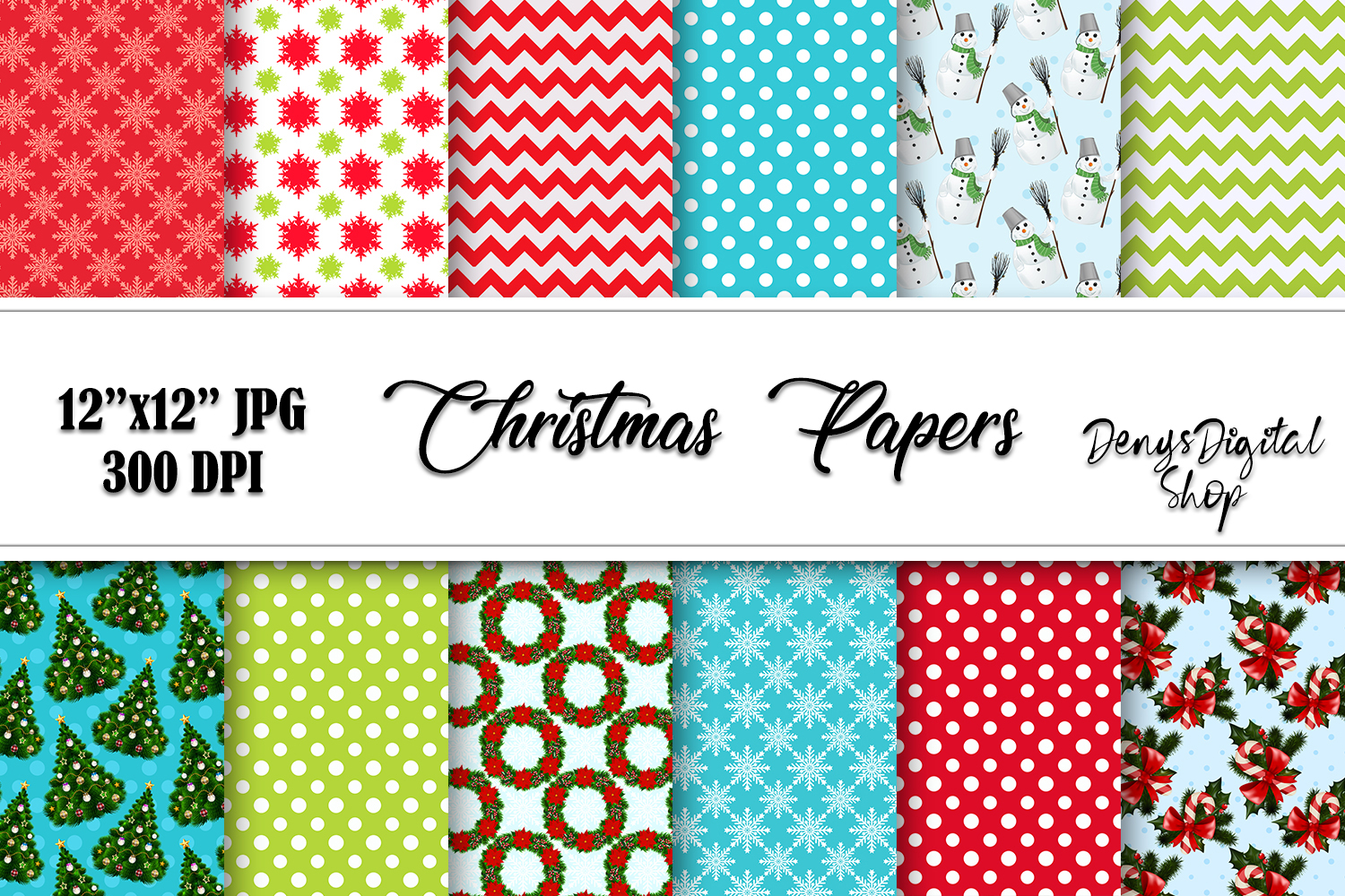 Download Free Christmas Scrapbook Christmas Papers Graphic By for Cricut Explore, Silhouette and other cutting machines.