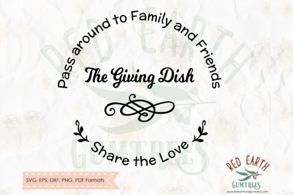 Download Free Christmas Giving Dish Svg Sharing Plate Graphic By Redearth And for Cricut Explore, Silhouette and other cutting machines.