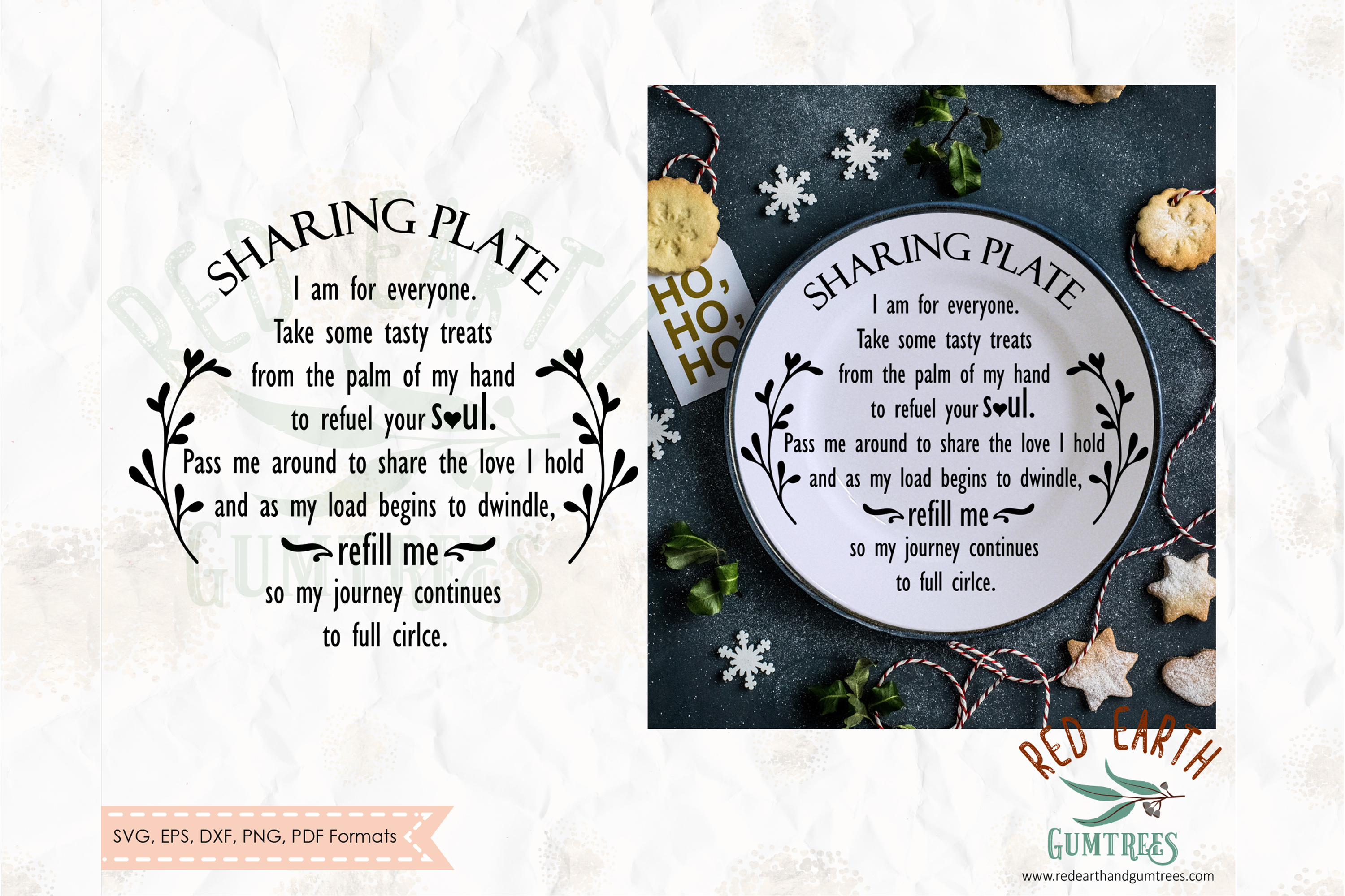 Download Free Christmas Sharing Plate Svg Giving Plate Graphic By Redearth And for Cricut Explore, Silhouette and other cutting machines.