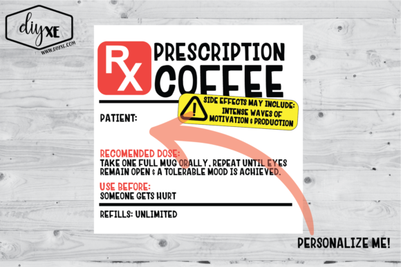Coffee Prescription Sublimation Graphic Graphic Illustrations By Sheryl Holst