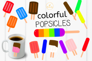 Print on Demand: Colorful Popsicles Clip Art Graphic Illustrations By jpjournalsandbooks