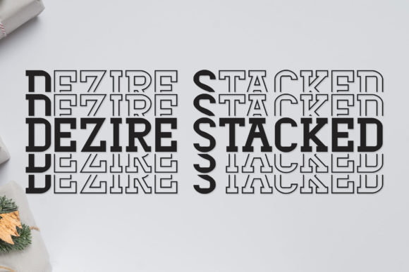 Print on Demand: Dezire Stacked Display Font By Dasagani - Image 1