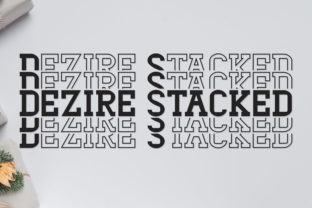 Print on Demand: Dezire Stacked Display Font By Dasagani