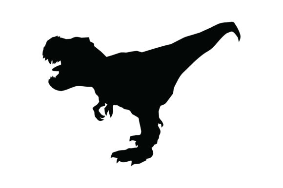 Dinosaur Silhouette Graphic Illustrations By RFG