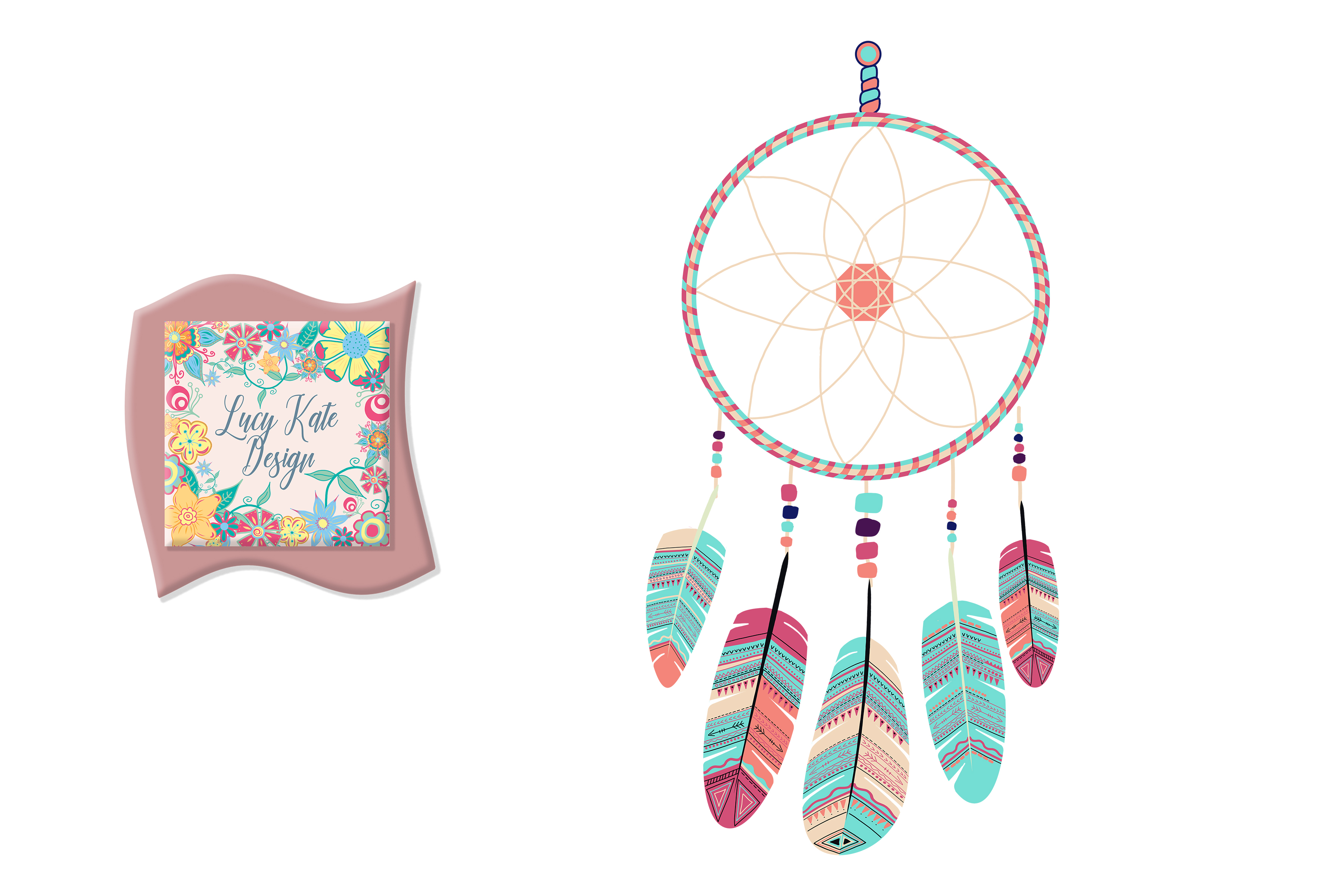 Download Free Dreamcatcher Illustration Graphic By Lucy Kate Design Creative for Cricut Explore, Silhouette and other cutting machines.