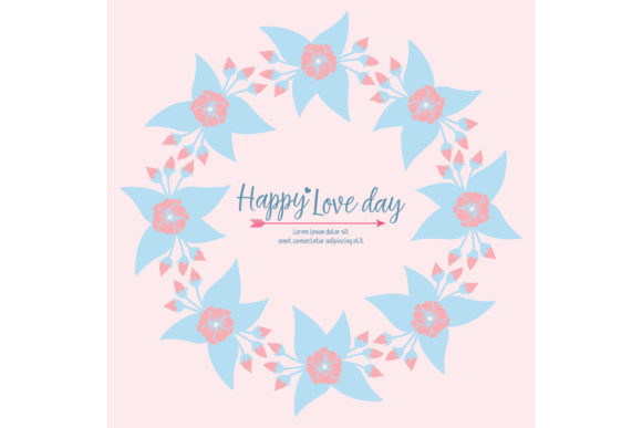 Elegant Happy Love Day Greeting Card Graphic Backgrounds By stockfloral