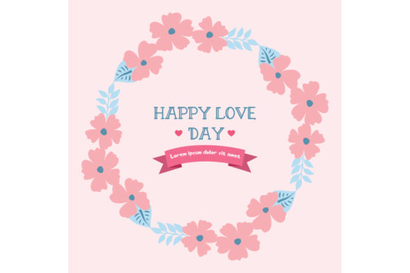 Elegant Frame, for Happy Love Day Graphic Backgrounds By stockfloral
