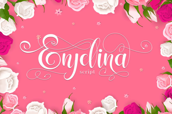 Print on Demand: Enjelina Script & Handwritten Font By Naharstd