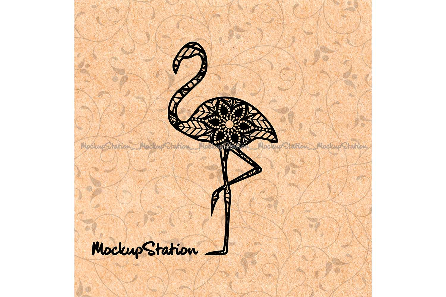 Download Free Flamingo Mandala Design Graphic By Mockup Station Creative Fabrica for Cricut Explore, Silhouette and other cutting machines.