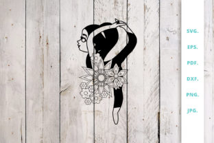 Download Free Floral Cute Yoga Girl Cut File Graphic By Sintegra Creative for Cricut Explore, Silhouette and other cutting machines.