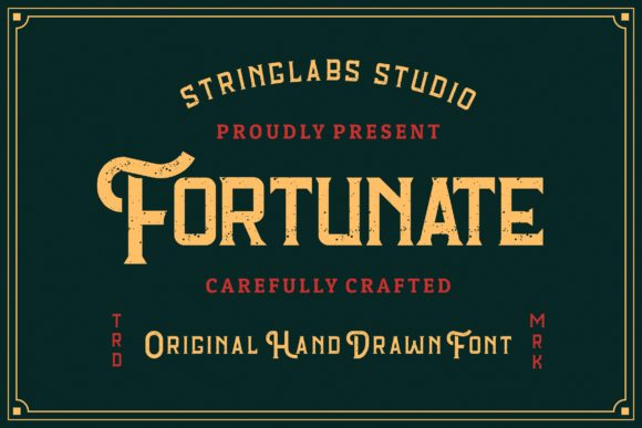 Print on Demand: Fortunate Display Font By StringLabs