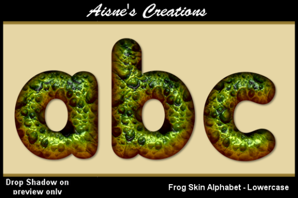 Print on Demand: Frog Skin Alphabet Lowercase Graphic Objects By Aisne