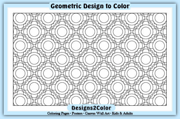 Print on Demand: Geometric Design #21316 Graphic Coloring Pages & Books Adults By Designs 2 Color