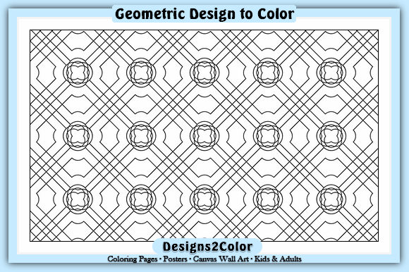 Print on Demand: Geometric Design #25619 Graphic Coloring Pages & Books Adults By Designs 2 Color