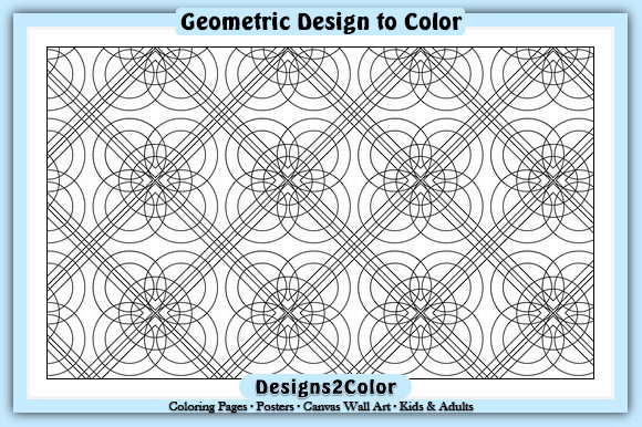 Print on Demand: Geometric Design #84150 Graphic Coloring Pages & Books Adults By Designs 2 Color