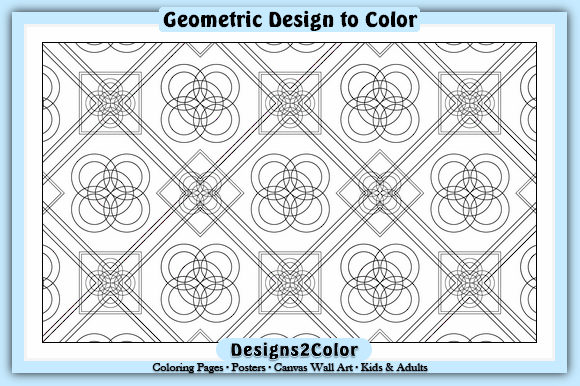 Print on Demand: Geometric Design #85644 Graphic Coloring Pages & Books Adults By Designs 2 Color