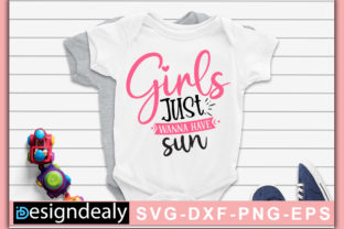 Print on Demand: Girls Just Want to Have Sun Graphic Print Templates By Designdealy