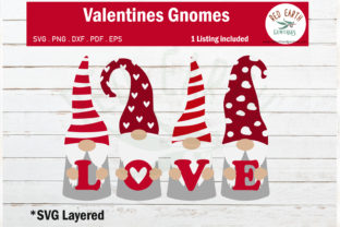 Gnomes Heart Valentines, Love Gnomes Graphic Crafts By redearth and gumtrees