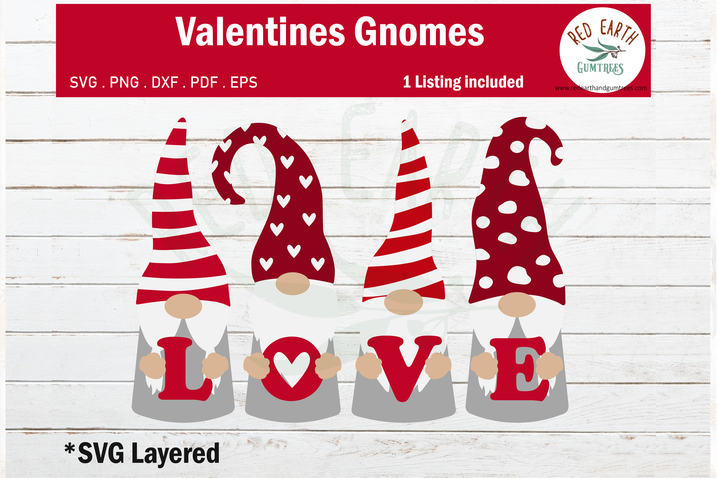 Download Free Gnomes Heart Valentines Love Gnomes Graphic By Redearth And Gumtrees Creative Fabrica for Cricut Explore, Silhouette and other cutting machines.