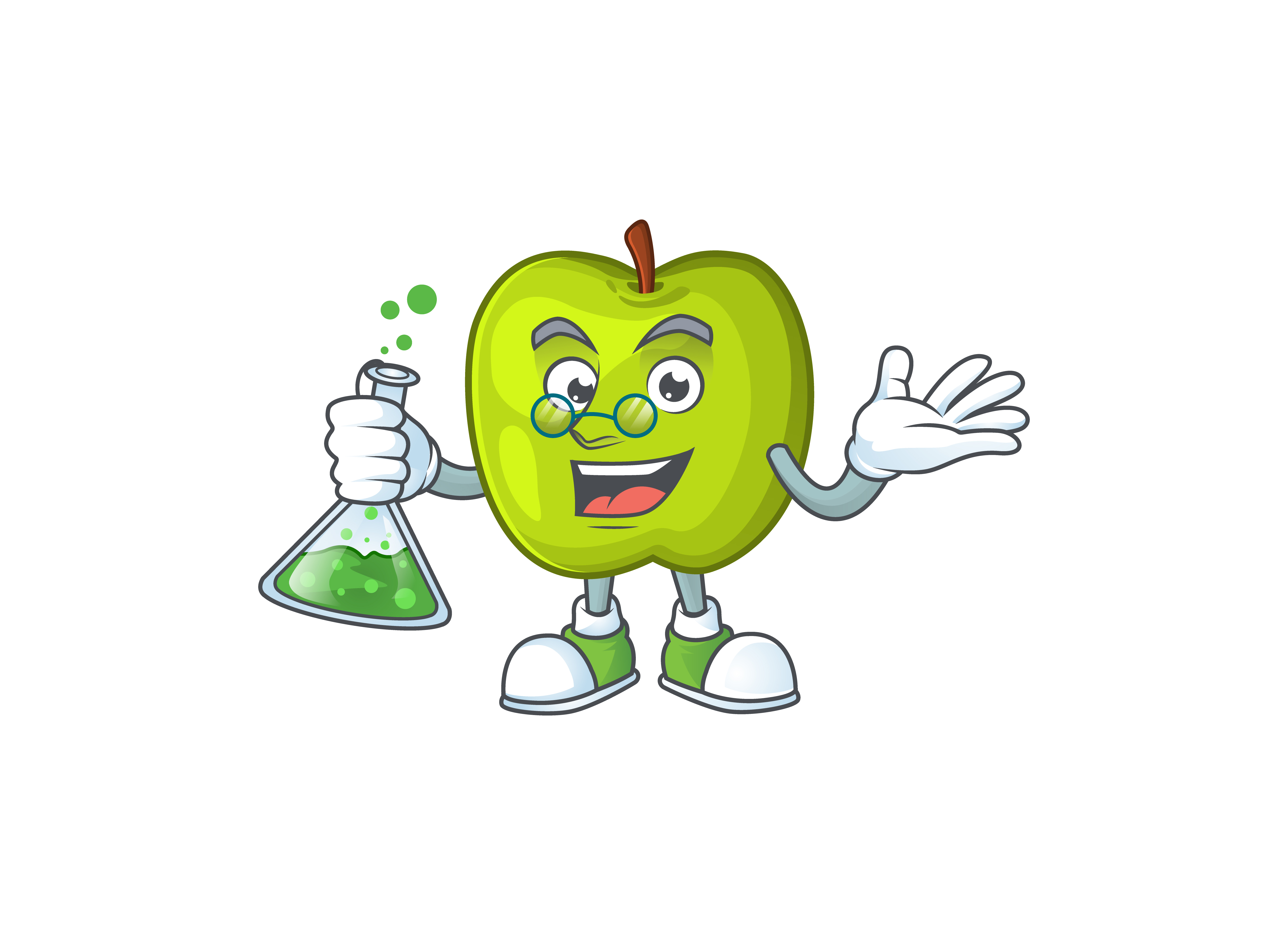 Download Free Granny Smith Cartoon Character Style Graphic By Kongvector2020 Creative Fabrica for Cricut Explore, Silhouette and other cutting machines.