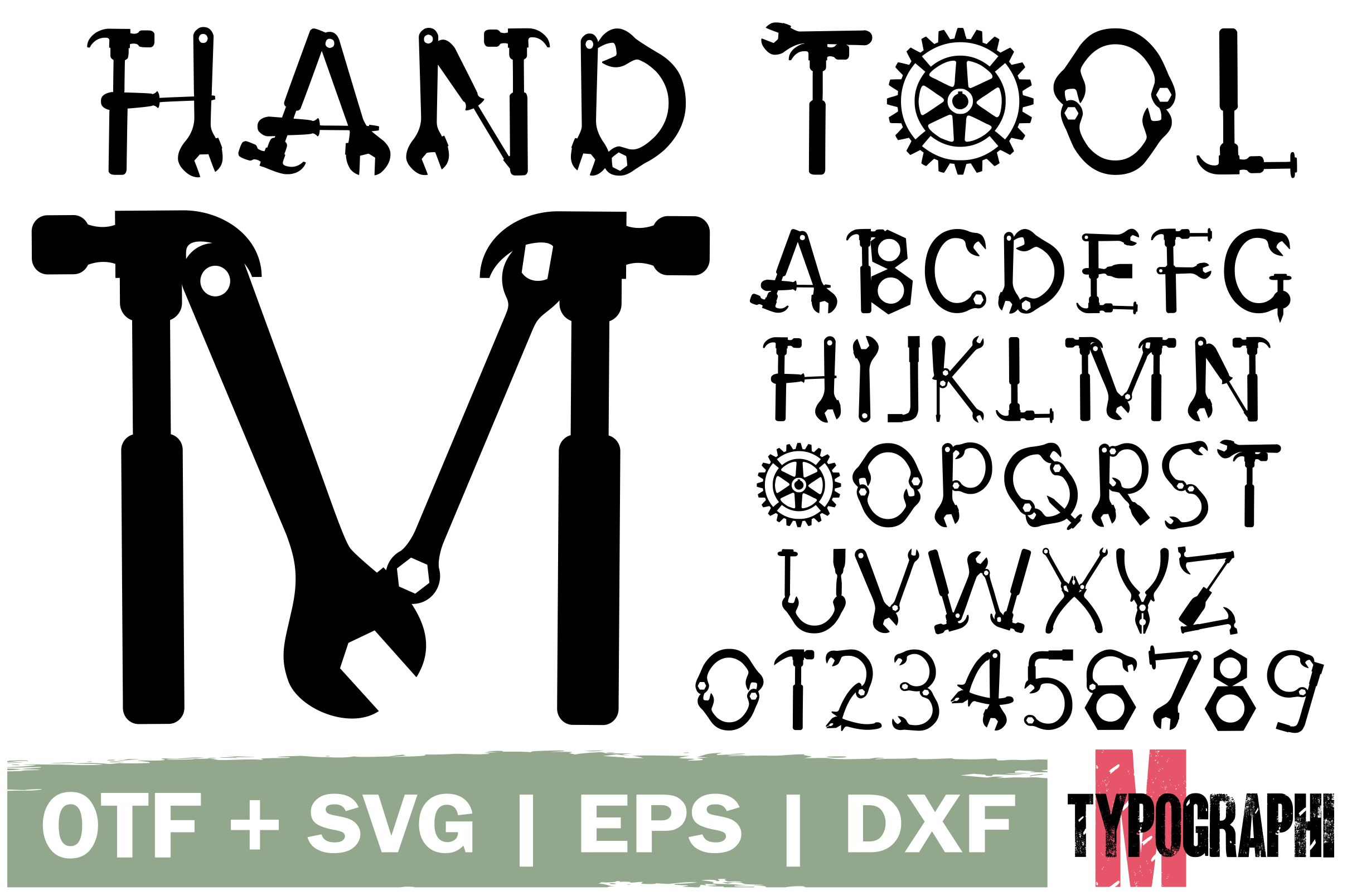 Download Free Hand Tool Font By Typography Morozyuk Creative Fabrica for Cricut Explore, Silhouette and other cutting machines.