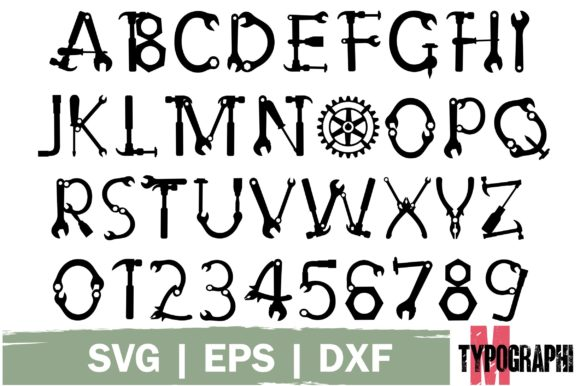 Print on Demand: Hand Tool Decorative Font By Typography Morozyuk - Image 7
