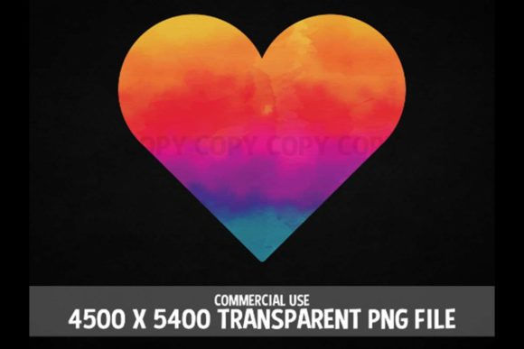 Print on Demand: Heart Rainbow Tie Dye Stain Red Clipart Graphic Illustrations By SunandMoon