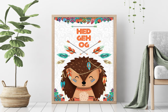 Print on Demand: Hedgehog Nursery Art Woodland Animal Graphic Illustrations By accaliadigital