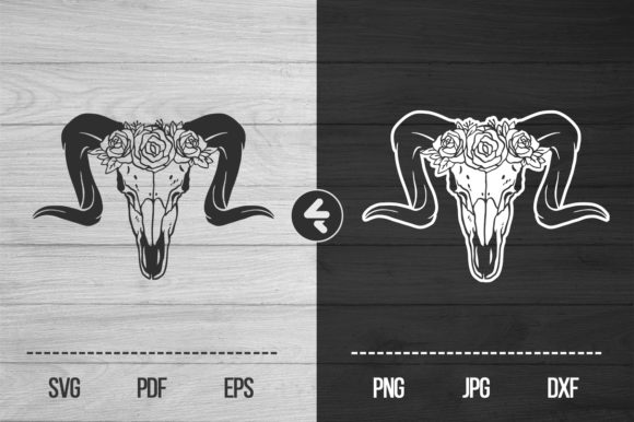Download Free Lamb Skull Graphic By Flocalliastore Creative Fabrica for Cricut Explore, Silhouette and other cutting machines.
