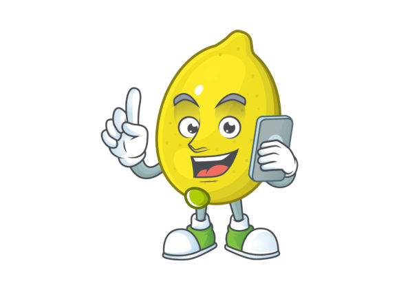 Download Free Lemon Cartoon Character Style Graphic By Kongvector2020 for Cricut Explore, Silhouette and other cutting machines.