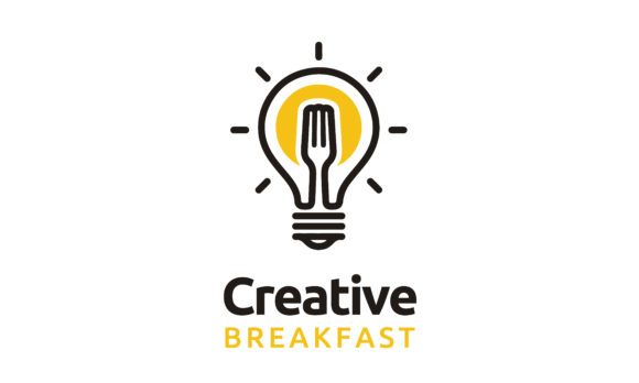 Download Free Light Bulb Fork Sun Egg Breakfast Logo Graphic By Enola99d for Cricut Explore, Silhouette and other cutting machines.