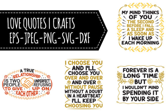 Download Free Love Quotes Bundle Graphic By Tosca Digital Creative Fabrica for Cricut Explore, Silhouette and other cutting machines.