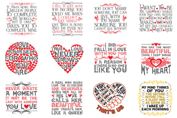 Download Free Love Quotes Bundle Grafik Von Tosca Digital Creative Fabrica for Cricut Explore, Silhouette and other cutting machines.