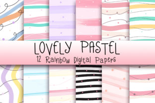 Print on Demand: Lovely Pastel Background Graphic Backgrounds By PinkPearly