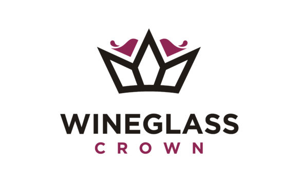 Download Free Luxury Wine Glass Crown King Queen Logo Graphic By Enola99d for Cricut Explore, Silhouette and other cutting machines.
