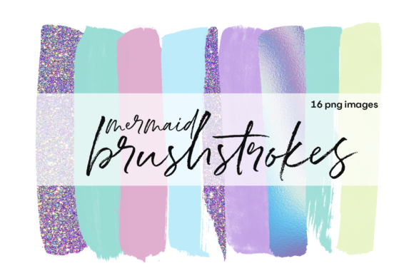 Mermaid Brushstrokes Graphic Illustrations By KA Designs