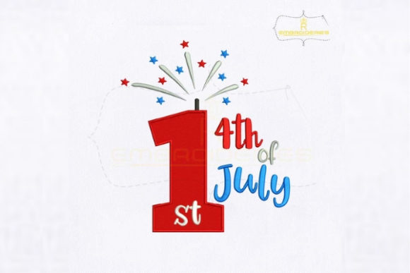 My 1st 4th of July Independence Day Embroidery Design By RoyalEmbroideries