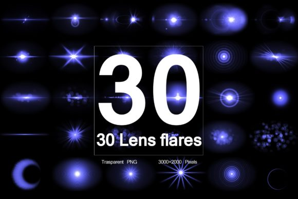 Optical Flares 30 Lens Flares V2 Graphic Objects By R-GraphicsDesign
