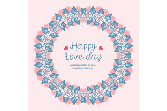 Pattern Unique Frame, for Happy Love Day Graphic Backgrounds By stockfloral