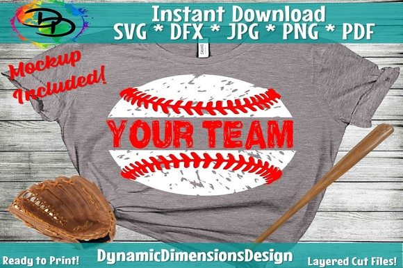 Download Free Personalized Distressed Baseball Graphic By Dynamicdimensions for Cricut Explore, Silhouette and other cutting machines.