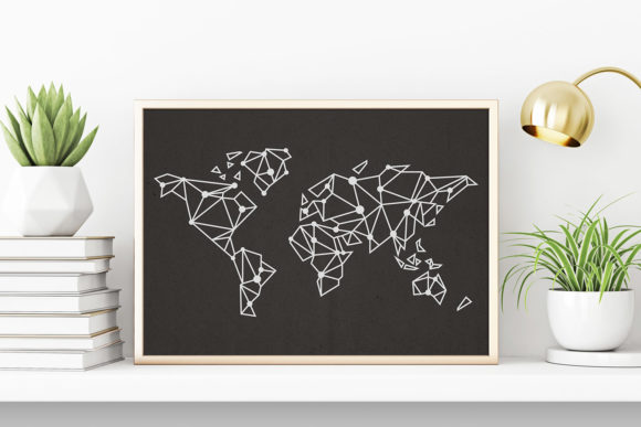Download Free Polygon Shaped World Map Vector Svg Graphic By Flocalliastore for Cricut Explore, Silhouette and other cutting machines.