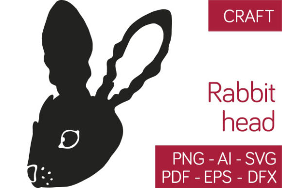 Download Free Rabbit Head Eastern Design Graphic By Milaski Creative Fabrica for Cricut Explore, Silhouette and other cutting machines.