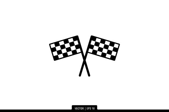 Download Free Race Flag Icon Vector Graphic By Fauzian1112 Creative Fabrica for Cricut Explore, Silhouette and other cutting machines.